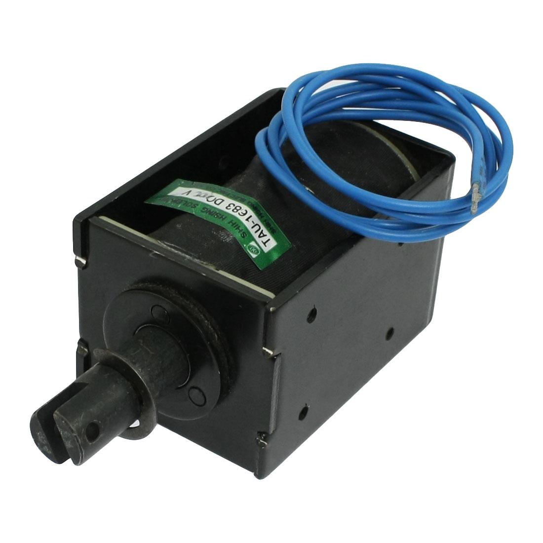 110V 1.54A Open Frame Pull Type Linear Solenoid 20mm Stroke 1.6N