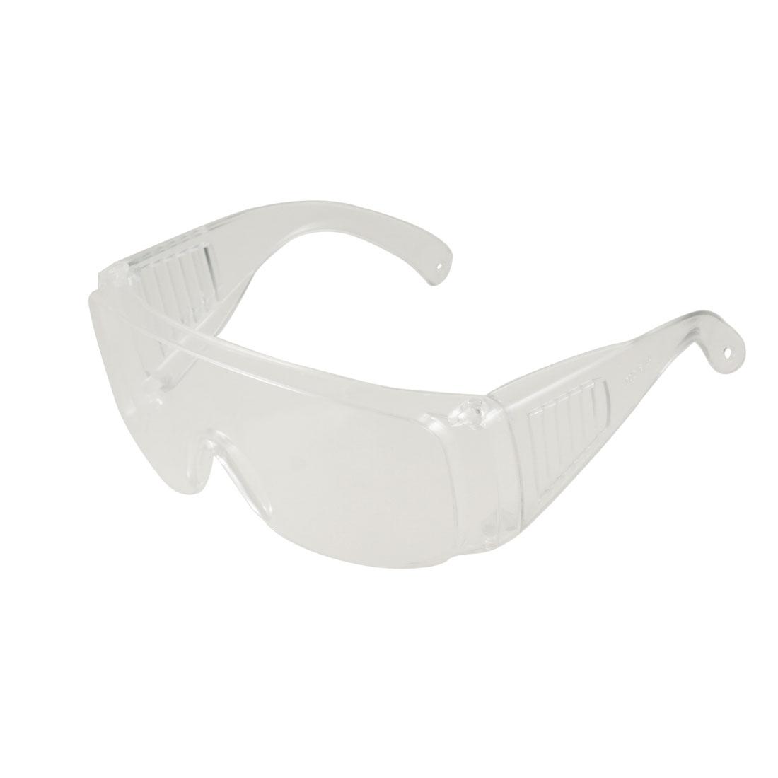 Men 2 Pcs Clear Uni Lens Plastic Arms Goggles Glasses