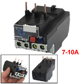 JR28-13 10A 3 Pole 7-10A Current Range Motor Protective Thermal Overload Relays