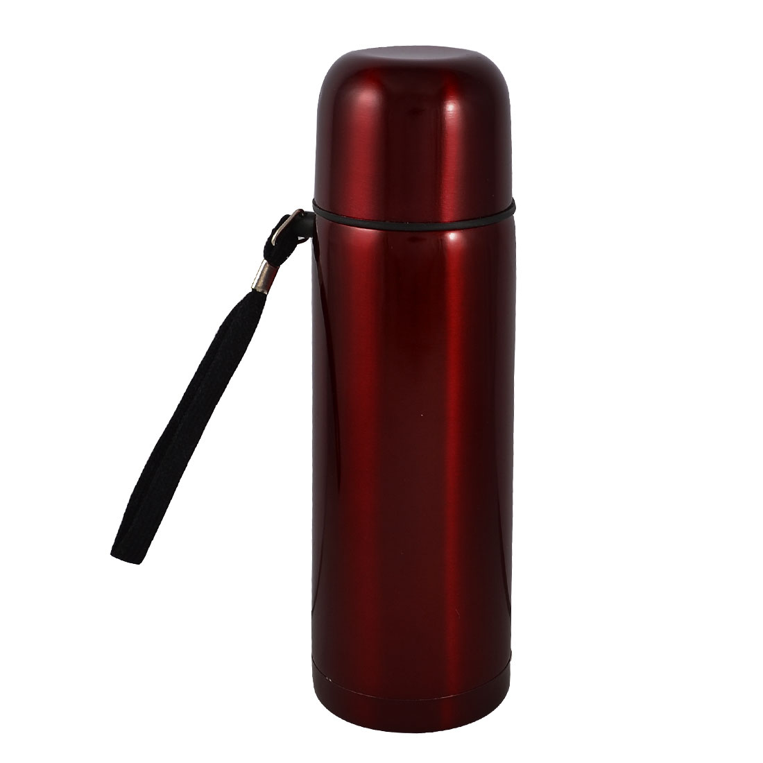 Handheld Red Shell Stainless Steel Vacuum Thermos Bottle 500ml
