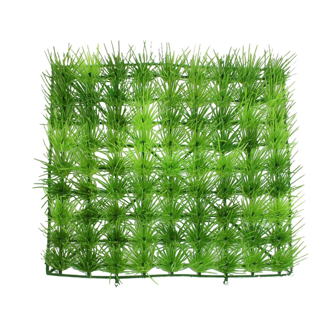 "9.1"" x 9.1"" Emulational Green Plastic Lawn Grass for Aquarium Fish Tank"