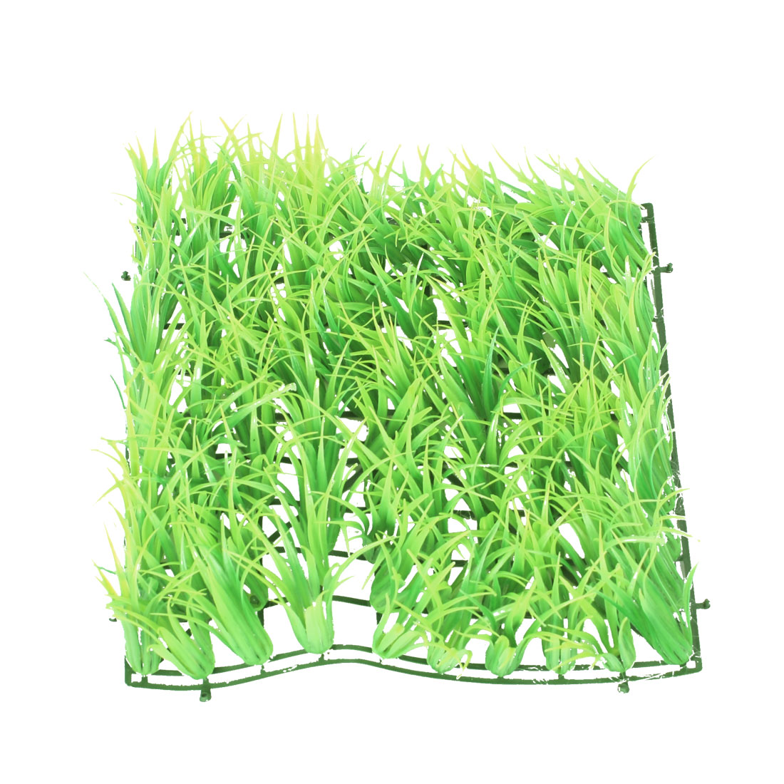 "Aquarium Underwater 9.4"" x 9.4"" x 2.4"" Artificial Plastic Grass Lawn Greenyellow"
