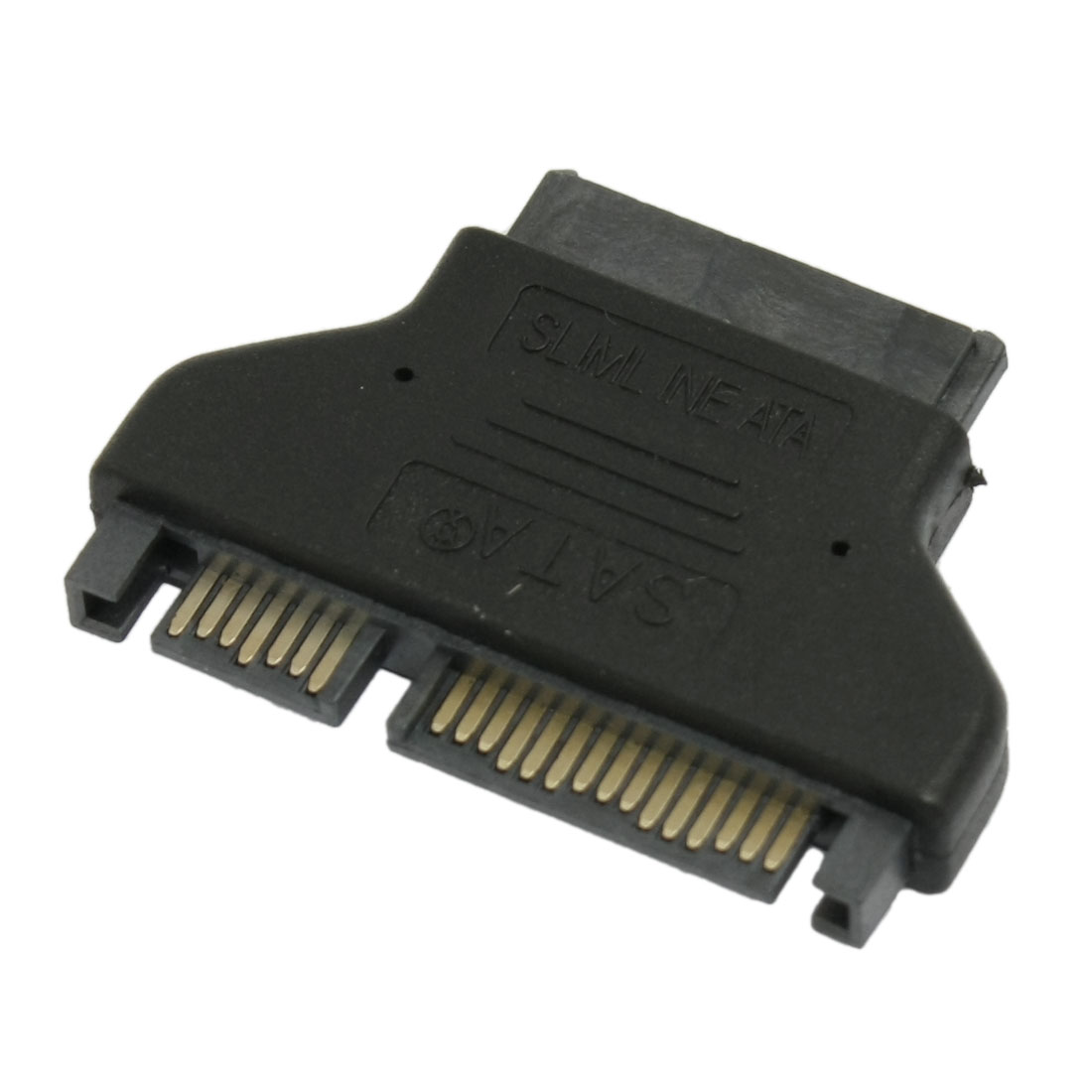 SATA 7+15 Pin Male Plug to Mini SATA 6+7P Female Jack Convertor Adapter