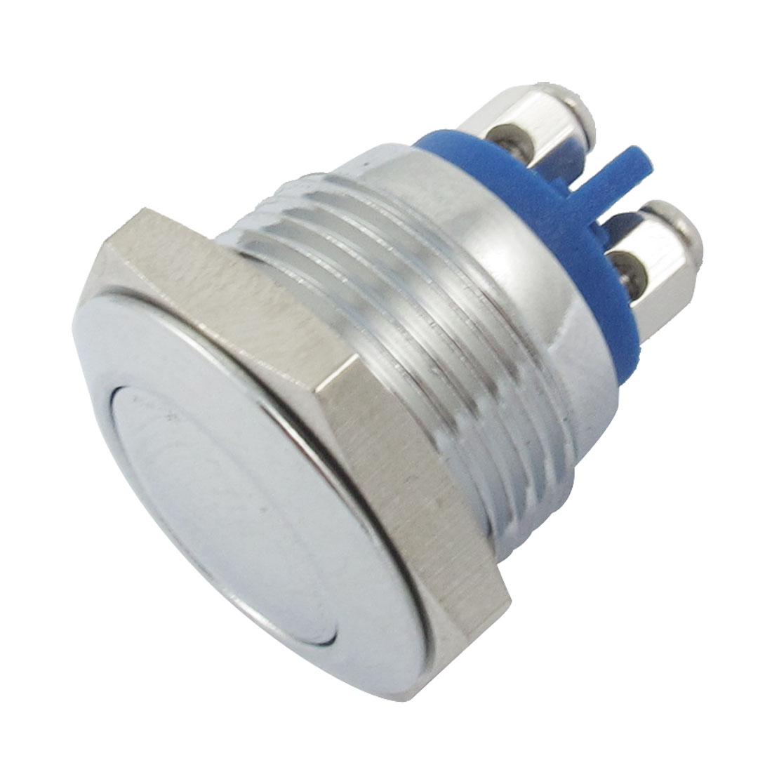 AC 250V 3A 1NO Two Screw Terminals Round Metal Push Button Switch