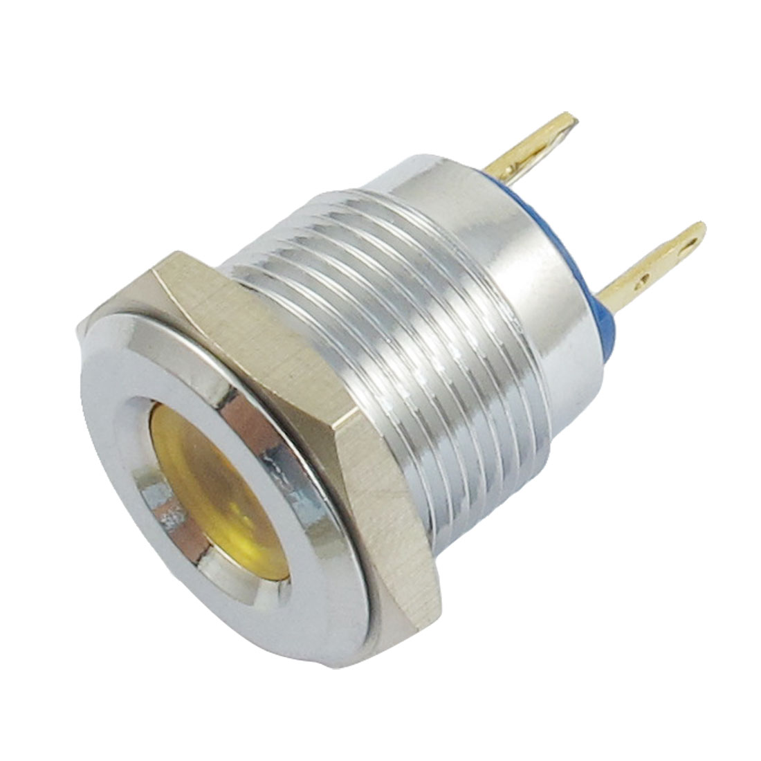 MQ16 Model DC 12V Two Terminals Yellow Light Signal Indicator Pilot Lamp