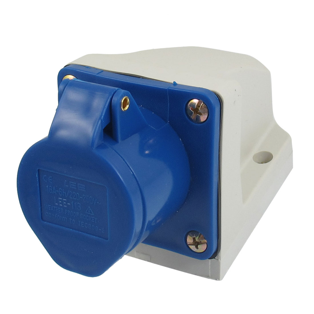 AC 220V-250V 16A 2P+E IEC309-2 Panel Mount Industrial Socket