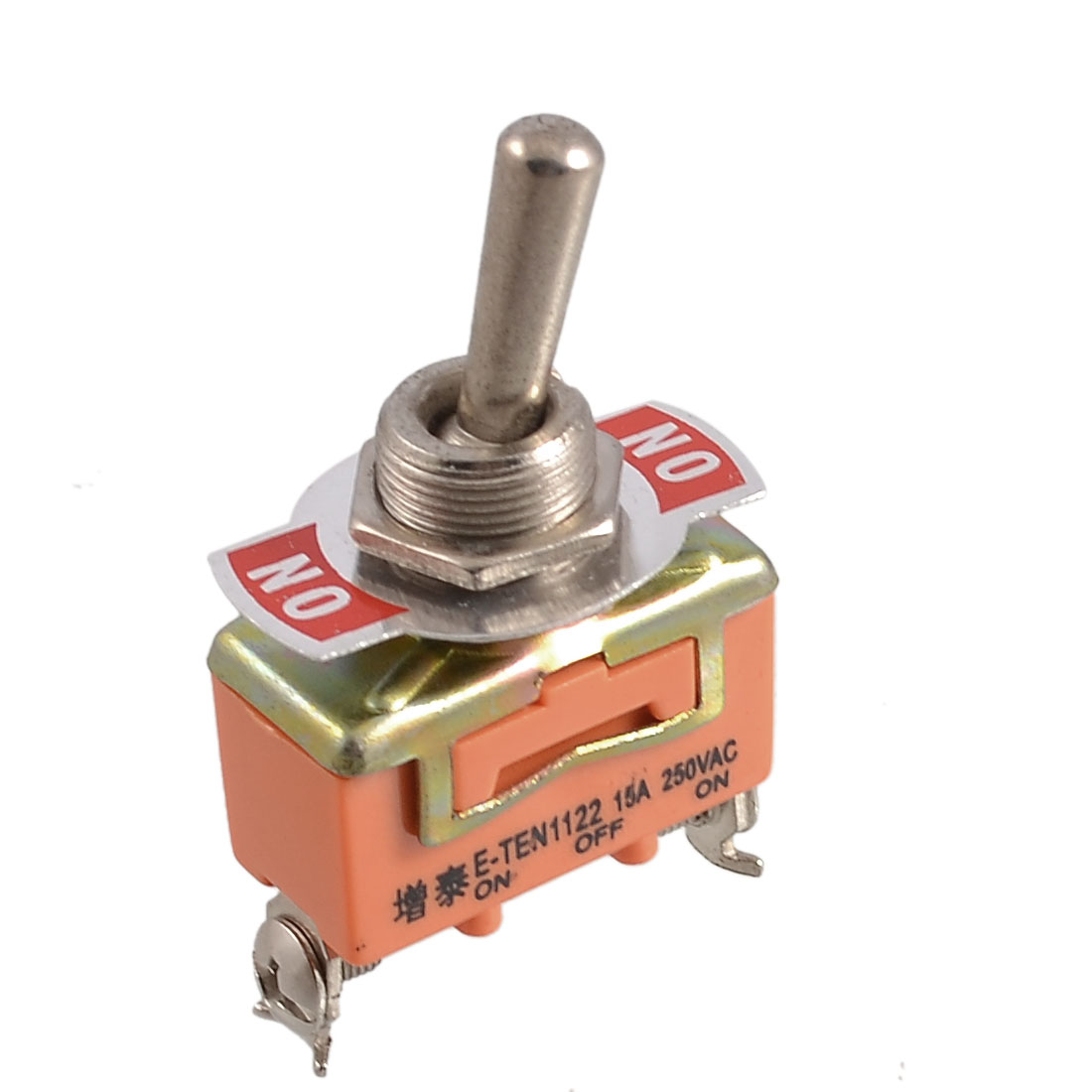 15A/250V AC ON/OFF/ON 3 Positions 3 Pin SPDT Latching Toggle Switch