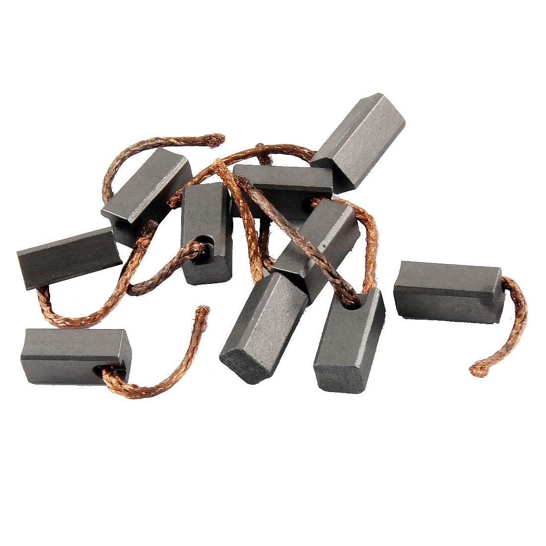 "Repair Parts 17/32"" x 7/32"" x 6/32"" DC Electric Motor Carbon Brush 10 Pcs"