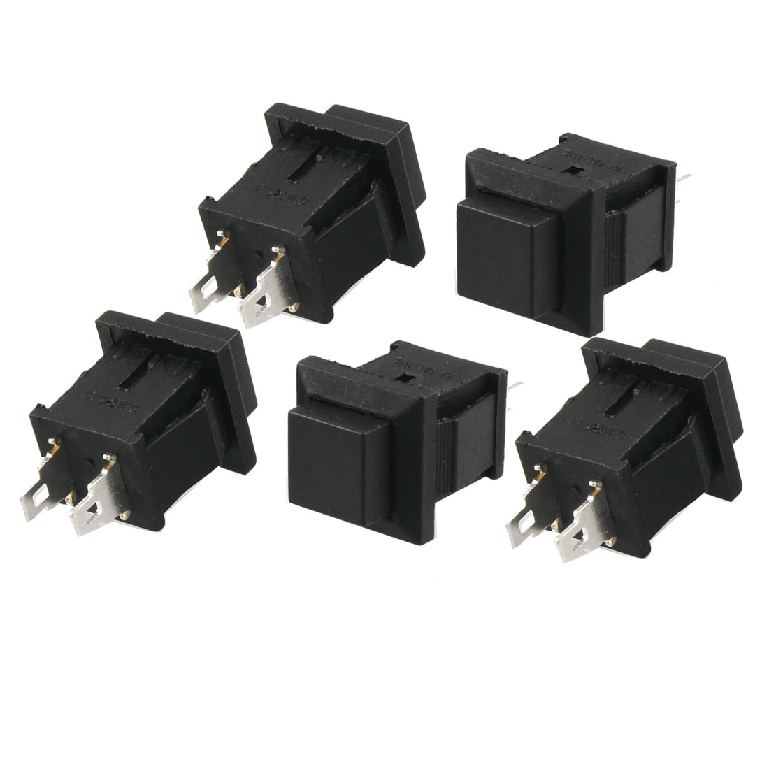 5 Pcs AC 125V 1A SPST Momentary Black Push Button Switch