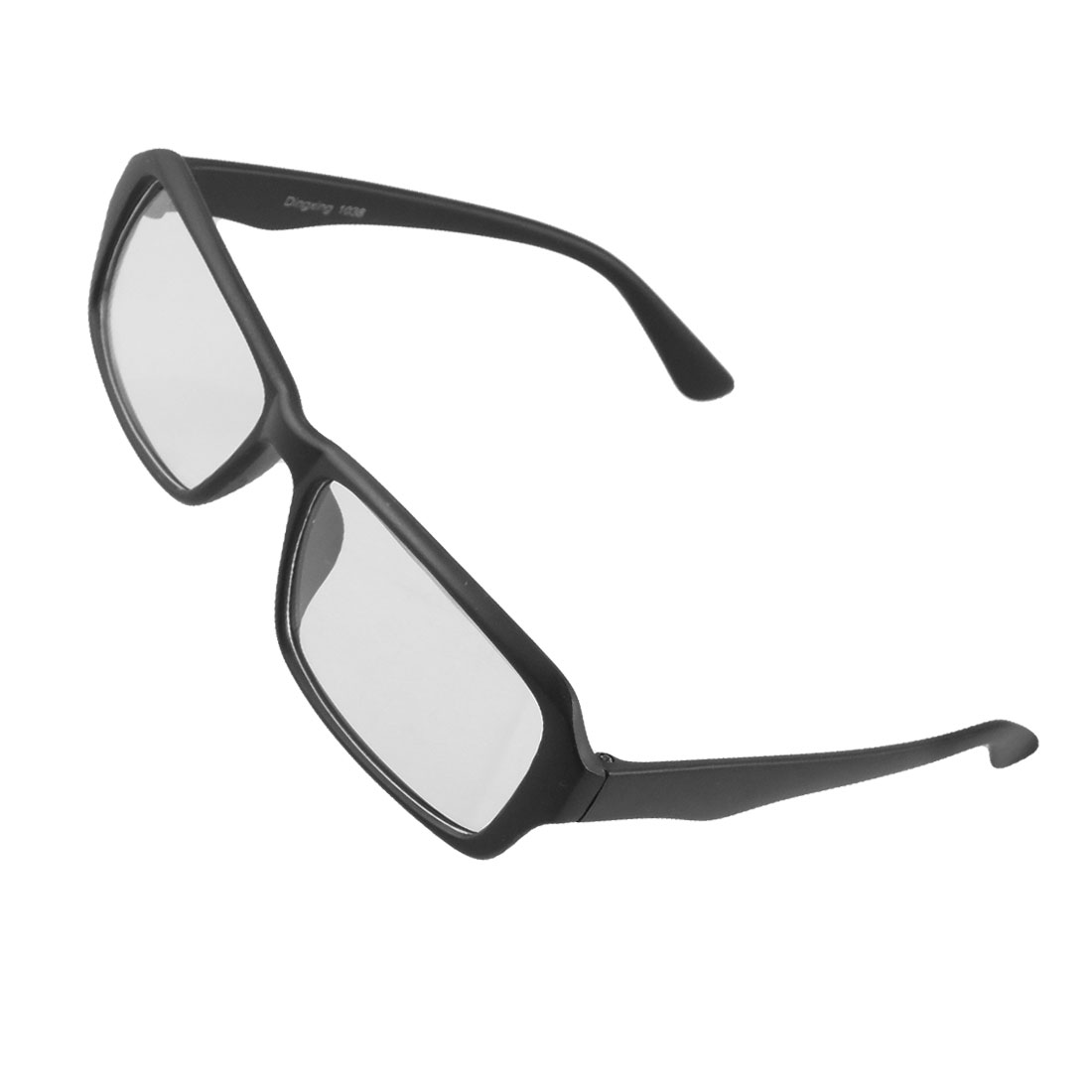 Black Full Brim Plastic Arms Plain Glasses for Men Women
