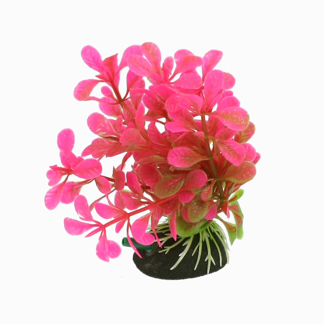 "Aquarium Fish Tank 4.5"" High Hot Pink Green Plastic Aquatic Plant"