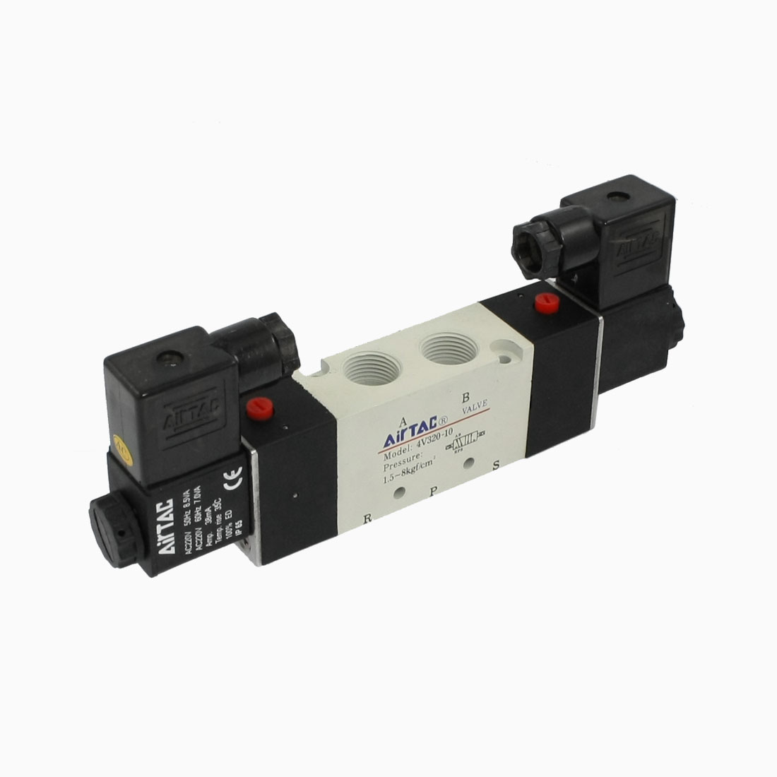 AC220V 4V320-10 2 Position 5 Way Pneumatic Solenoid Valve