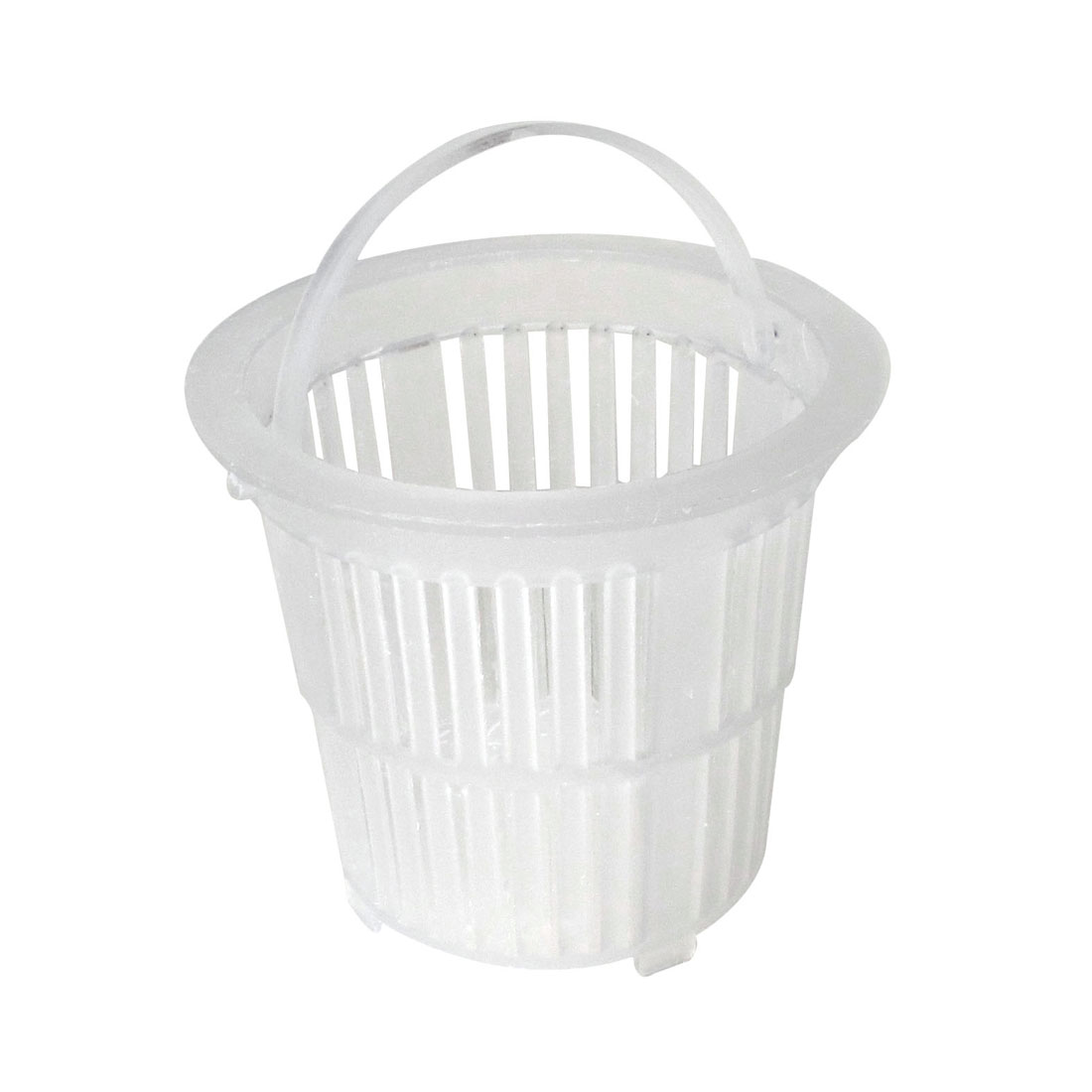 Wash Basin Water Sink White Plastic Basket Shape Drainer Strainer