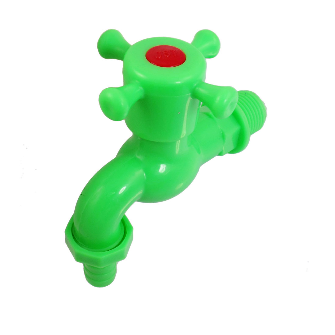 Home 1cm Outlet Diameter Green Plastic Water Tap Faucet