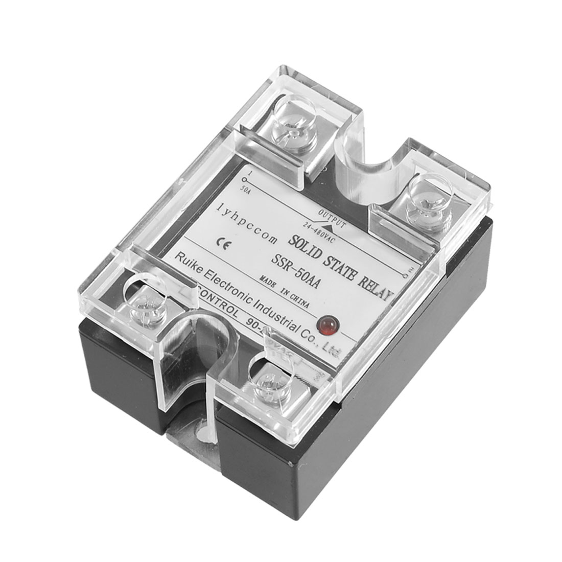 AC-AC Single Phase SSR-50AA 90-280V 24-480V Solid State Relay