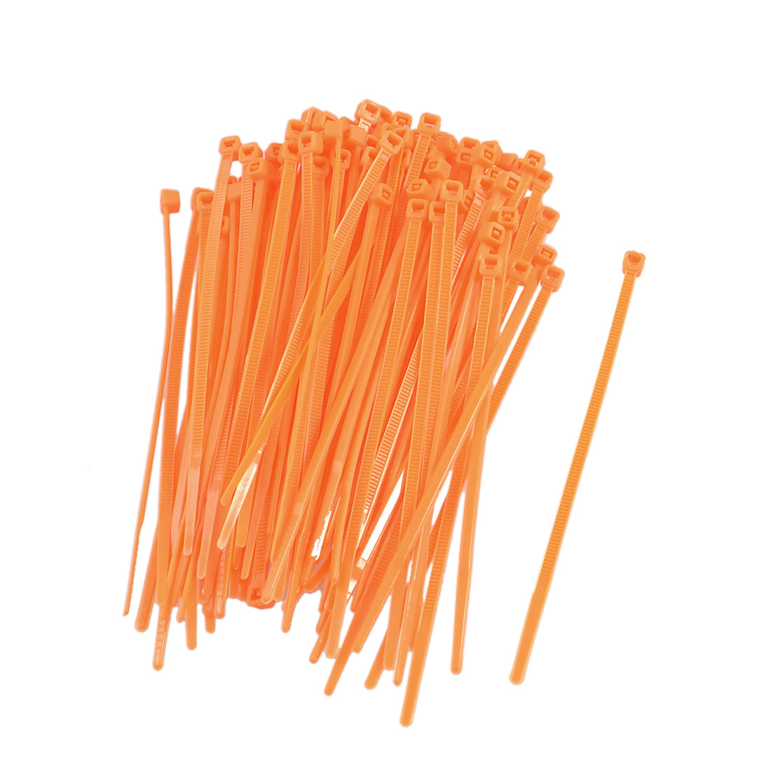 Home Shop Orange Red Plastic Flexible Cable Wire Marker Ties 100 Pcs