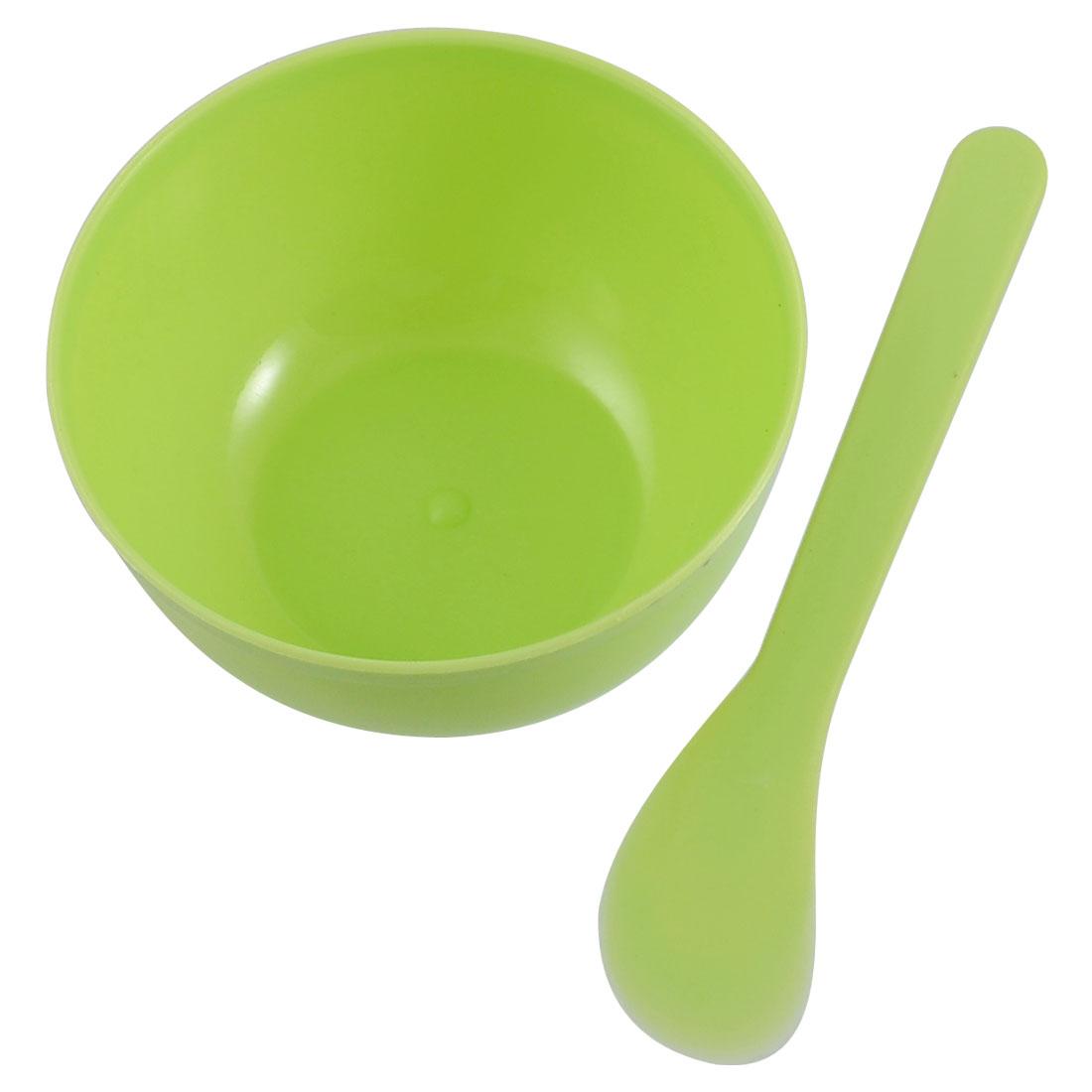 Green Make Up Facial Face Skin Care Plastic Mask Bowl Stick Set