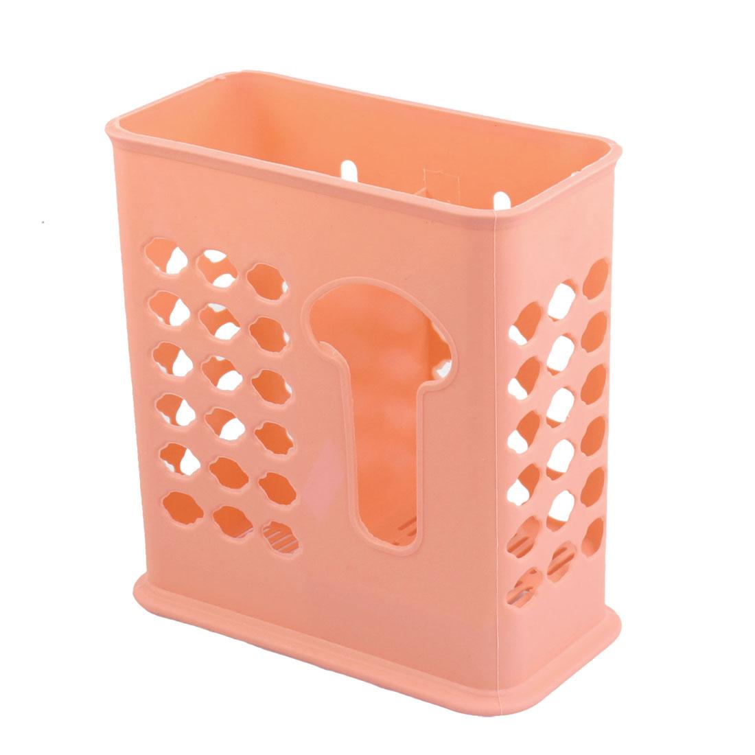 Home Orange Plastic Chopsticks Ladle Organizer Case Holder