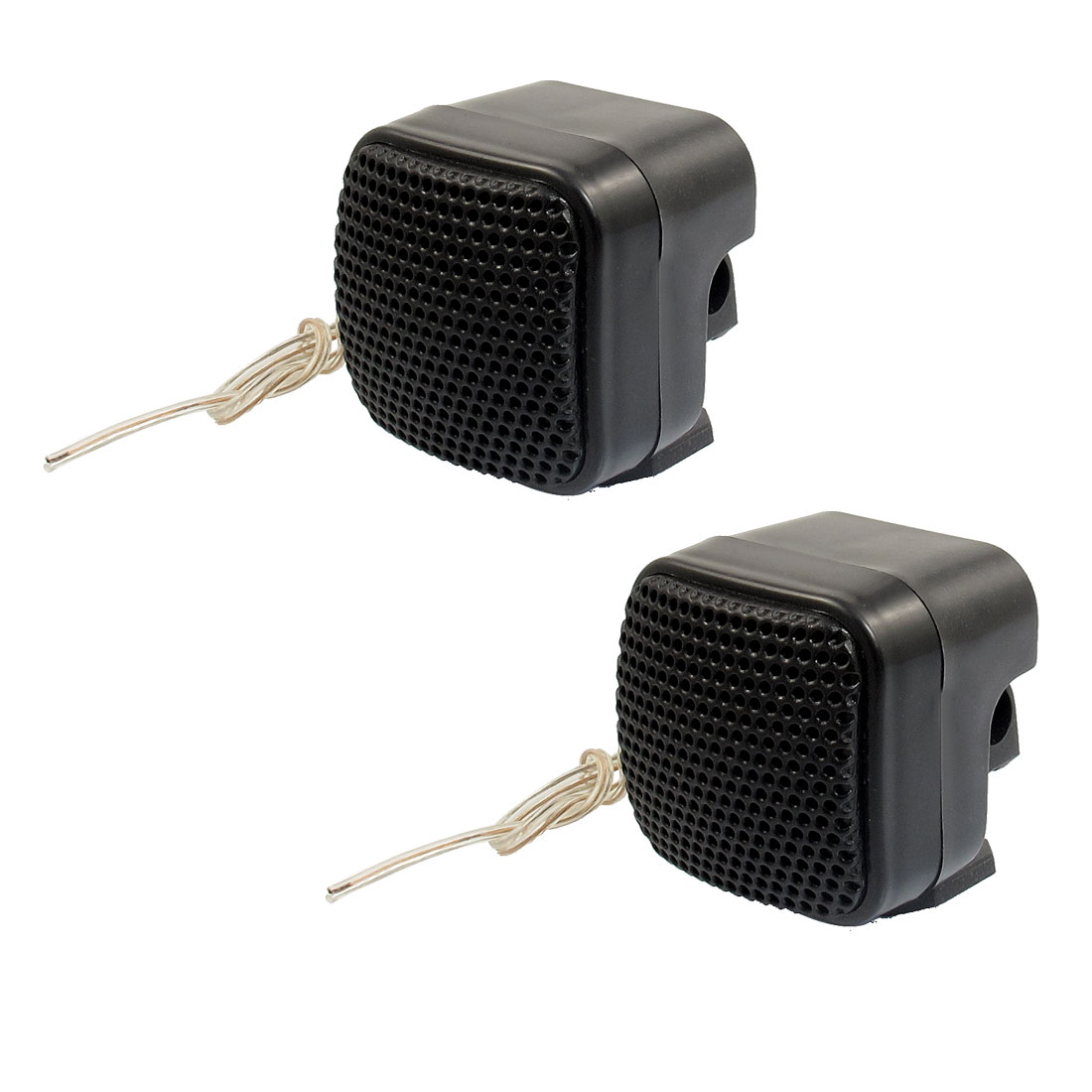 2 Pcs Car Auto Vehicle Audio System Tweeter Speakers Black