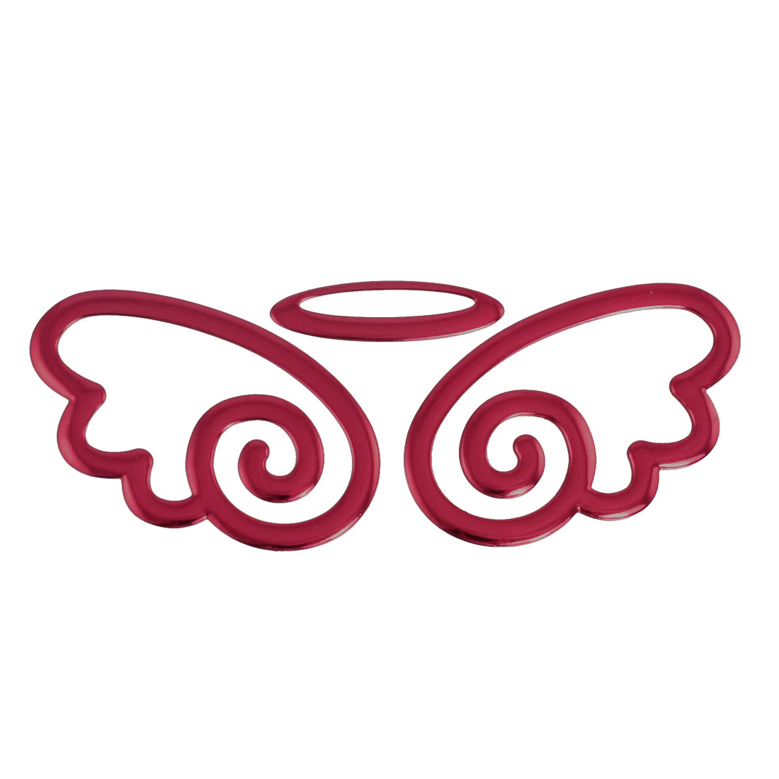 Car Auto Emblem Logo Decorative Angel Style 3D Sticker Red