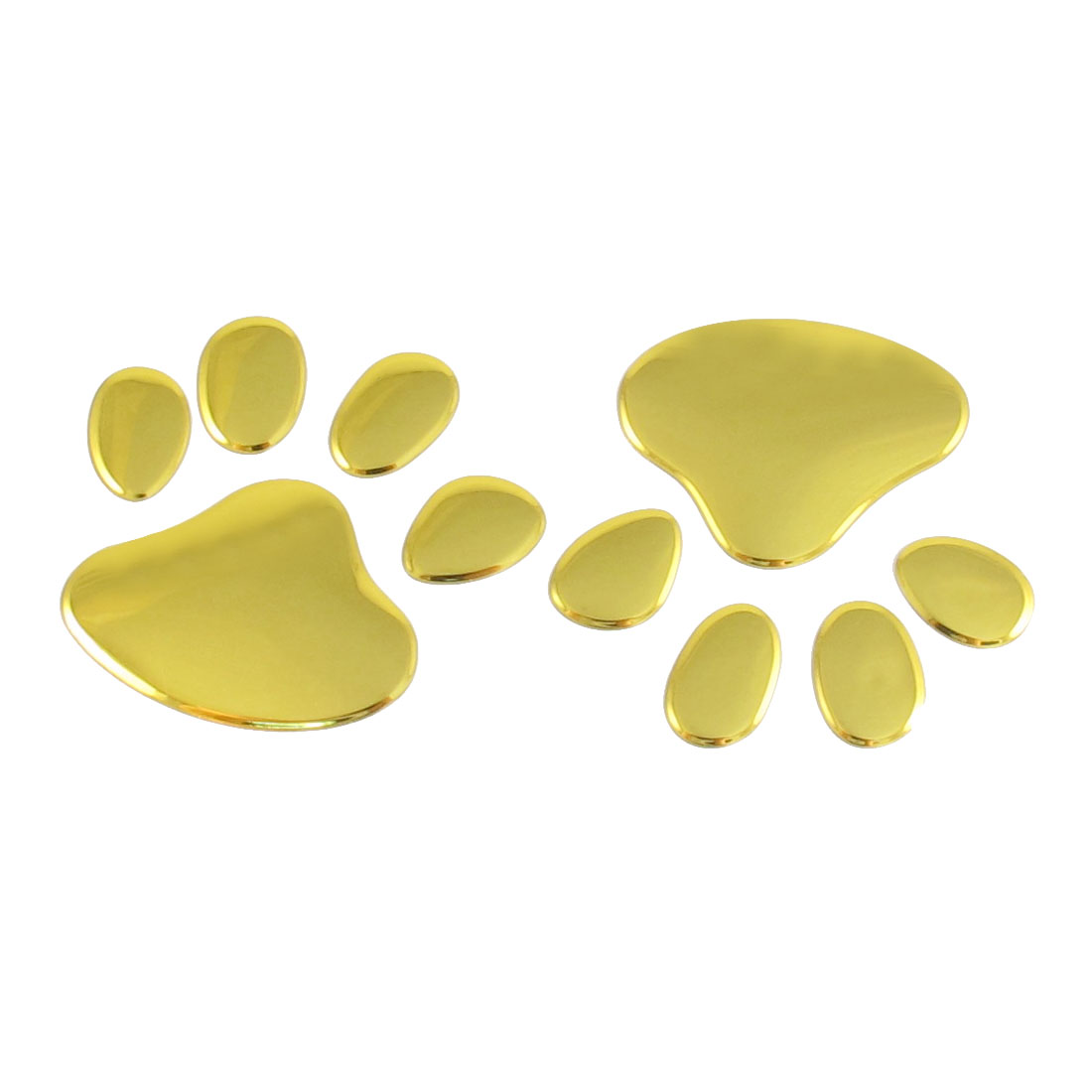 Car Auto Self Adhesive Puppy Paw 3D Emblem Sticker Decor Gold Tone