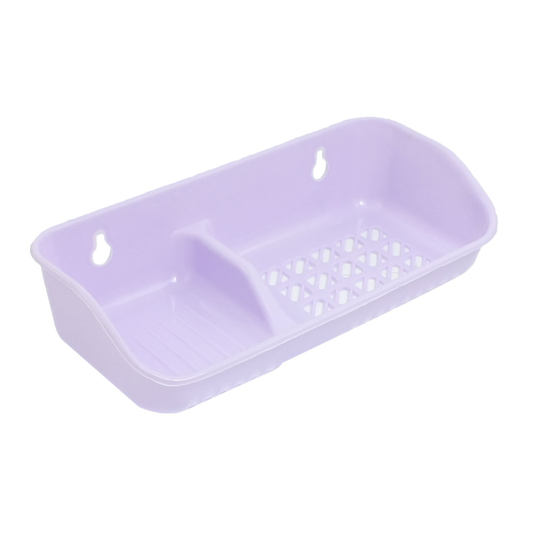 Purple Plastic Soap Dish Holder w Clear Suction Cups for Bathroom Kitchen