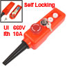 Red Sign Emergency Stop 2 Position Key Lock Momentary Up Down Hoist Crane Pushbutton Switch