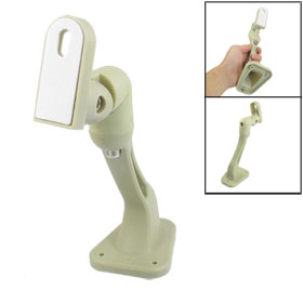 Security CCTV Camera Off White Plastic Wall Mount Bracket Holder