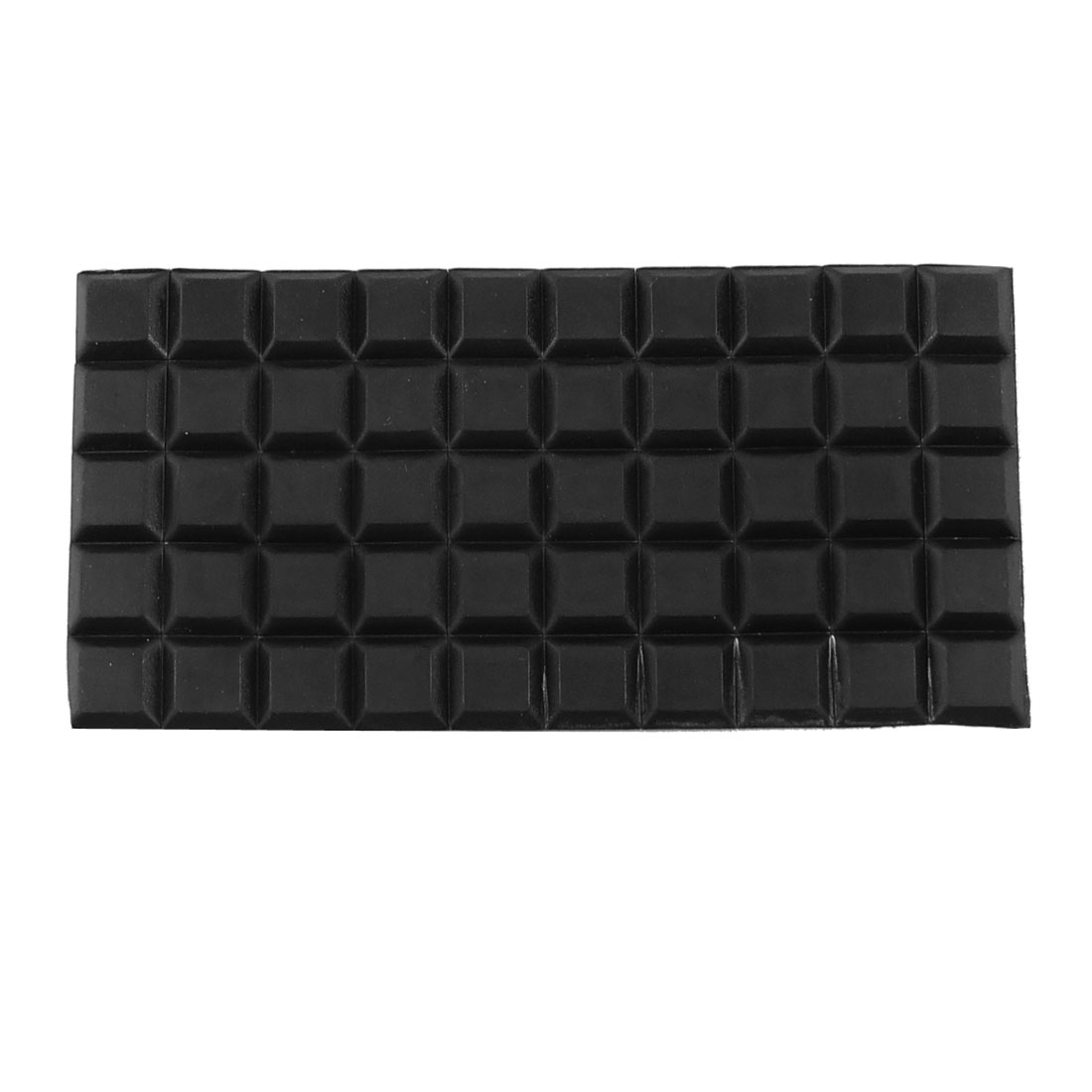 Chair Floor Adhesive 13mm x 13mm x 3mm Mini Rubber Pads Black
