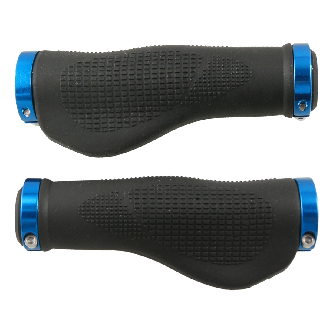 Pair Rubber Mountain Bike Handle Bar Handlebar Grips Black Blue