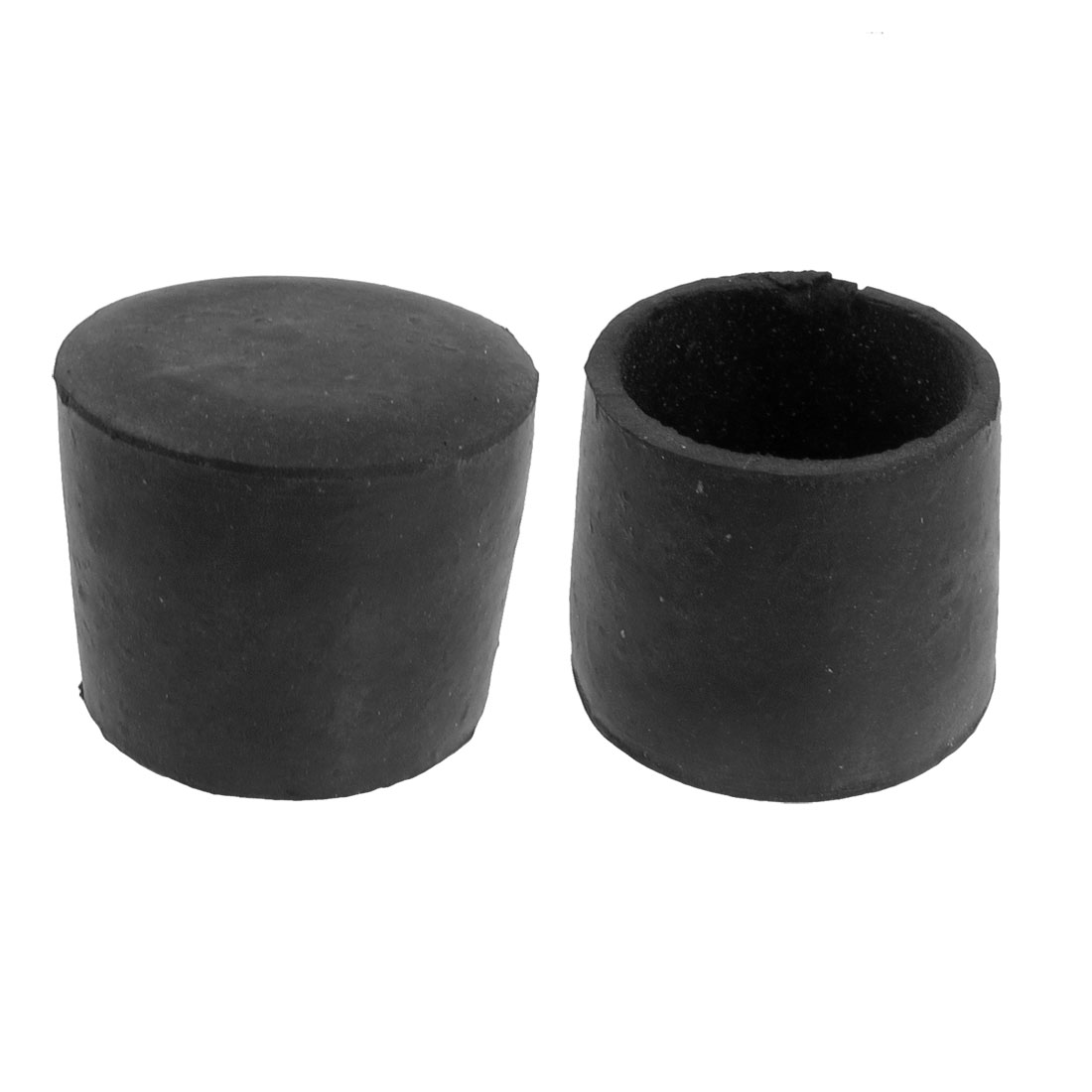 3.7cm Inner Dia Black Rubber Cone Shape Round Table Chair Foot Cover 2 Pcs