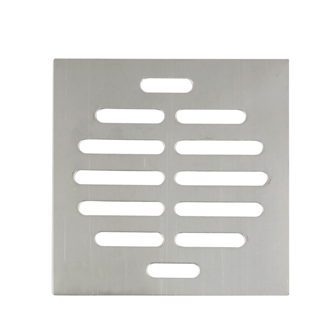 "4"" x 4"" Square 14 Holes Stainless Steel Floor Drain Cover Silver Tone"