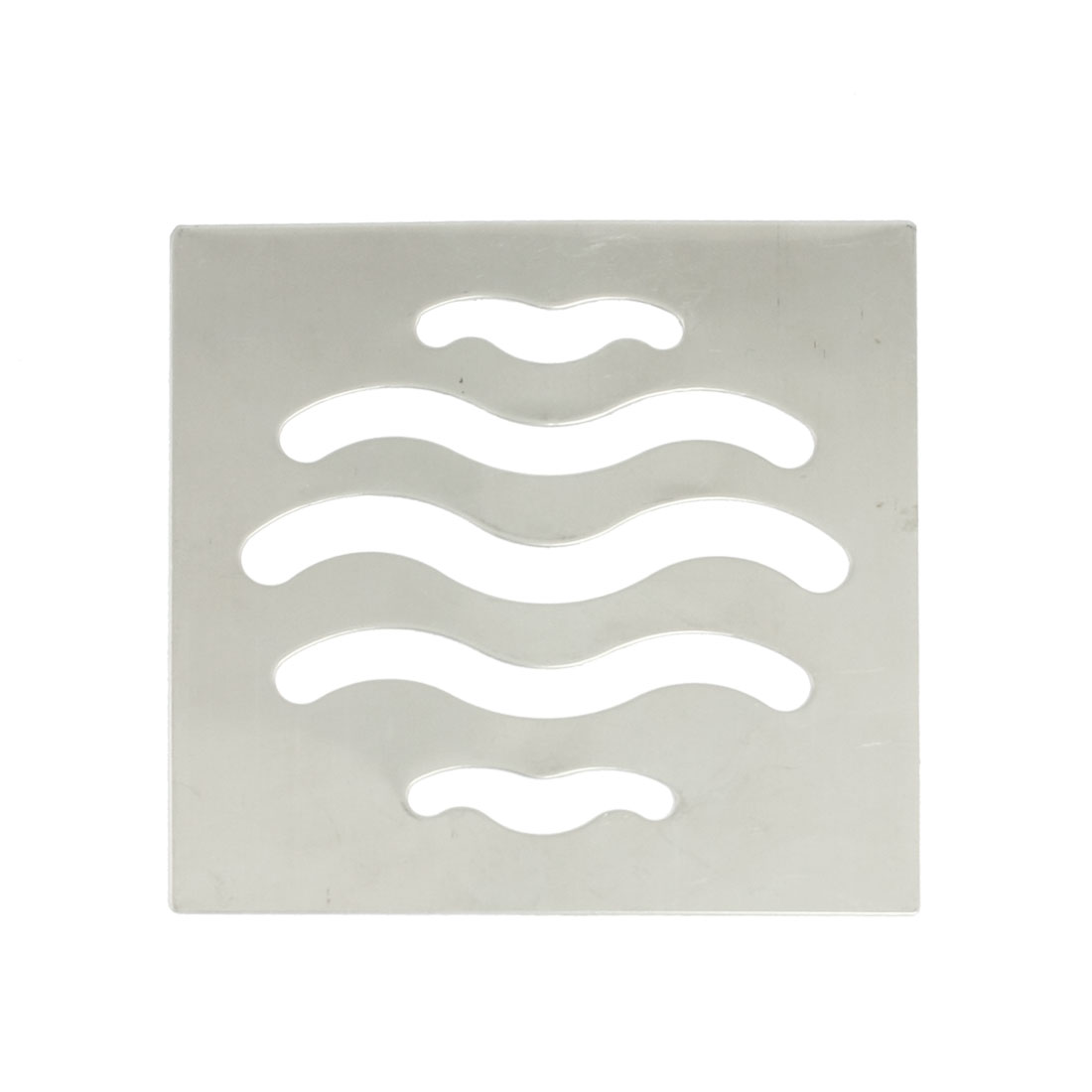8.8cm x 8.8cm Square Silver Tone Stainless Steel Floor Drain Cover Grate