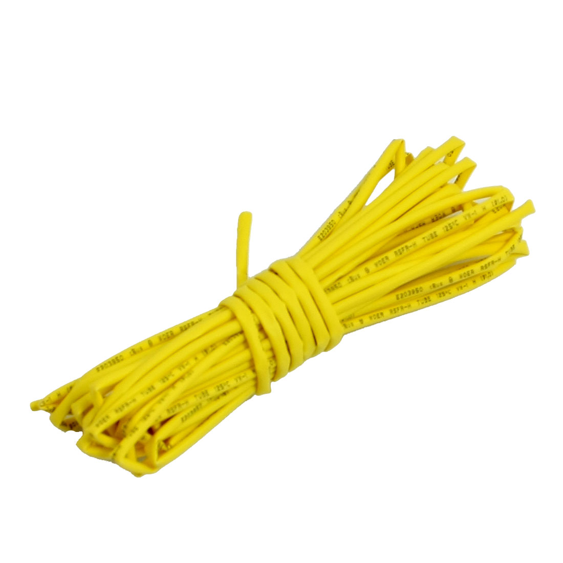 1.0mm Dia. Ratio 2:1 Heat Shrinking Shrinkable Tube Yellow 4M 13Ft