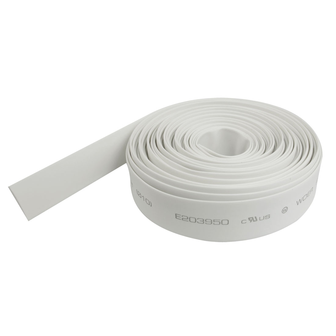 White 10mm Diameter Polyolefin 2:1 Halogen-Free Heat Shrink Tubing 6M 20Ft