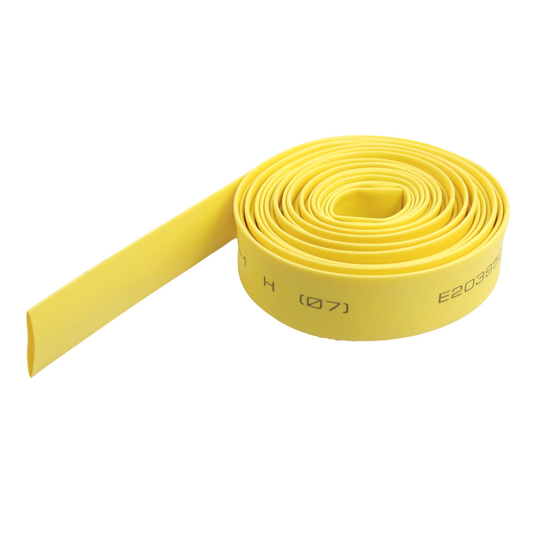 Ratio 2:1 7mm Dia Yellow Polyolefin Heat Shrinkable Tube 2M 6.6Ft