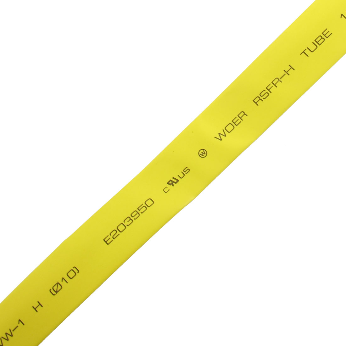 Ratio 2:1 10mm Dia Yellow Polyolefin Heat Shrinkable Tube 10M 32.8ft