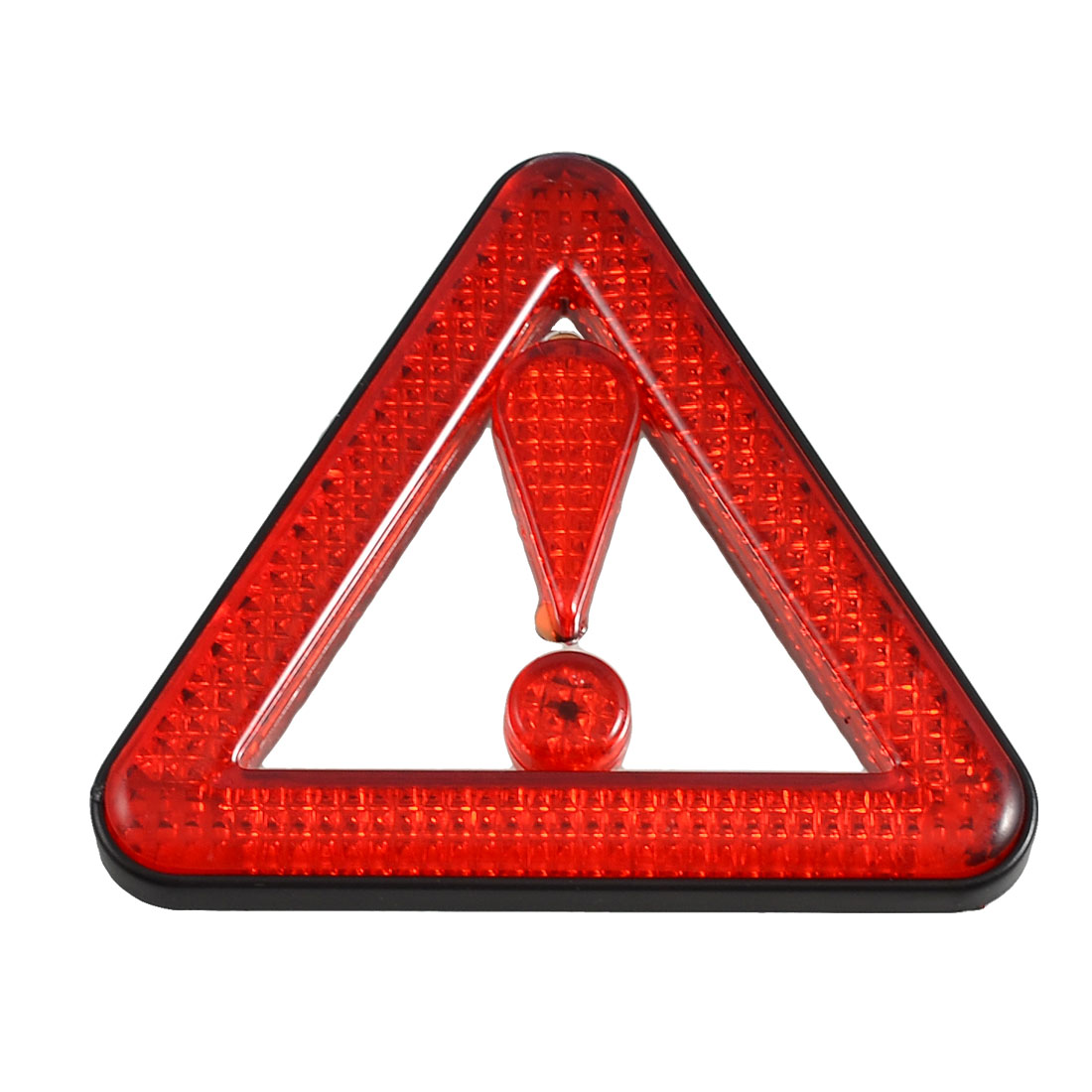 Car Exclamation Mark Reflective Triangle Sticker Red Black
