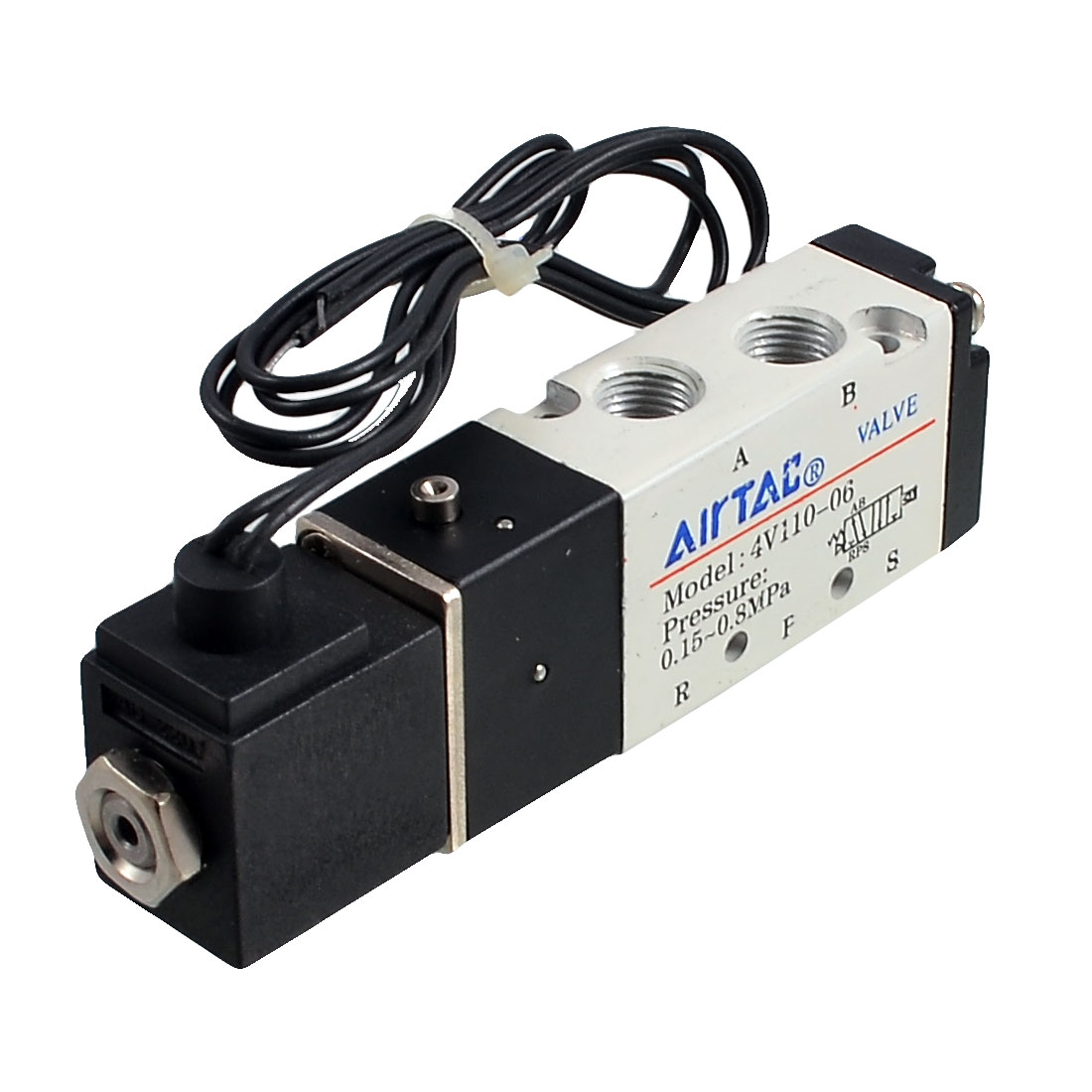 AC 220V 2 Position 5 Way Inner Guide Type Air Solenoid Valve