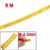 Yellow 19.7Ft 6M Long 4.5mm Dia Polyolefin Heat Shrinkable Tube Tubing