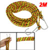2M Long Flat Elastic Bungee Cord Strap for Motorcycle Bike