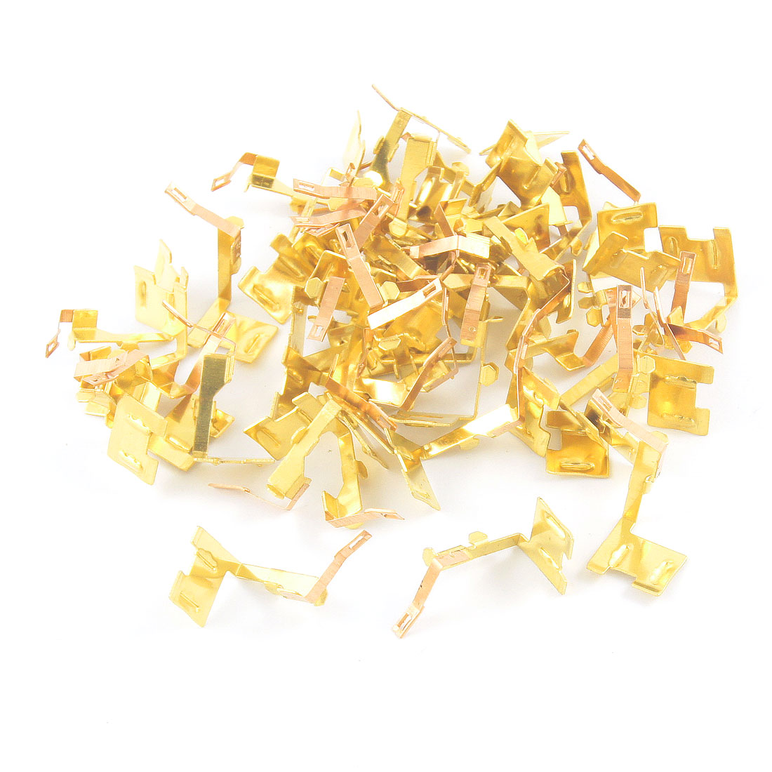 50 Pcs F500-0.11A Gold Tone Carbon Brush Holder for F500 Motor Cizzf