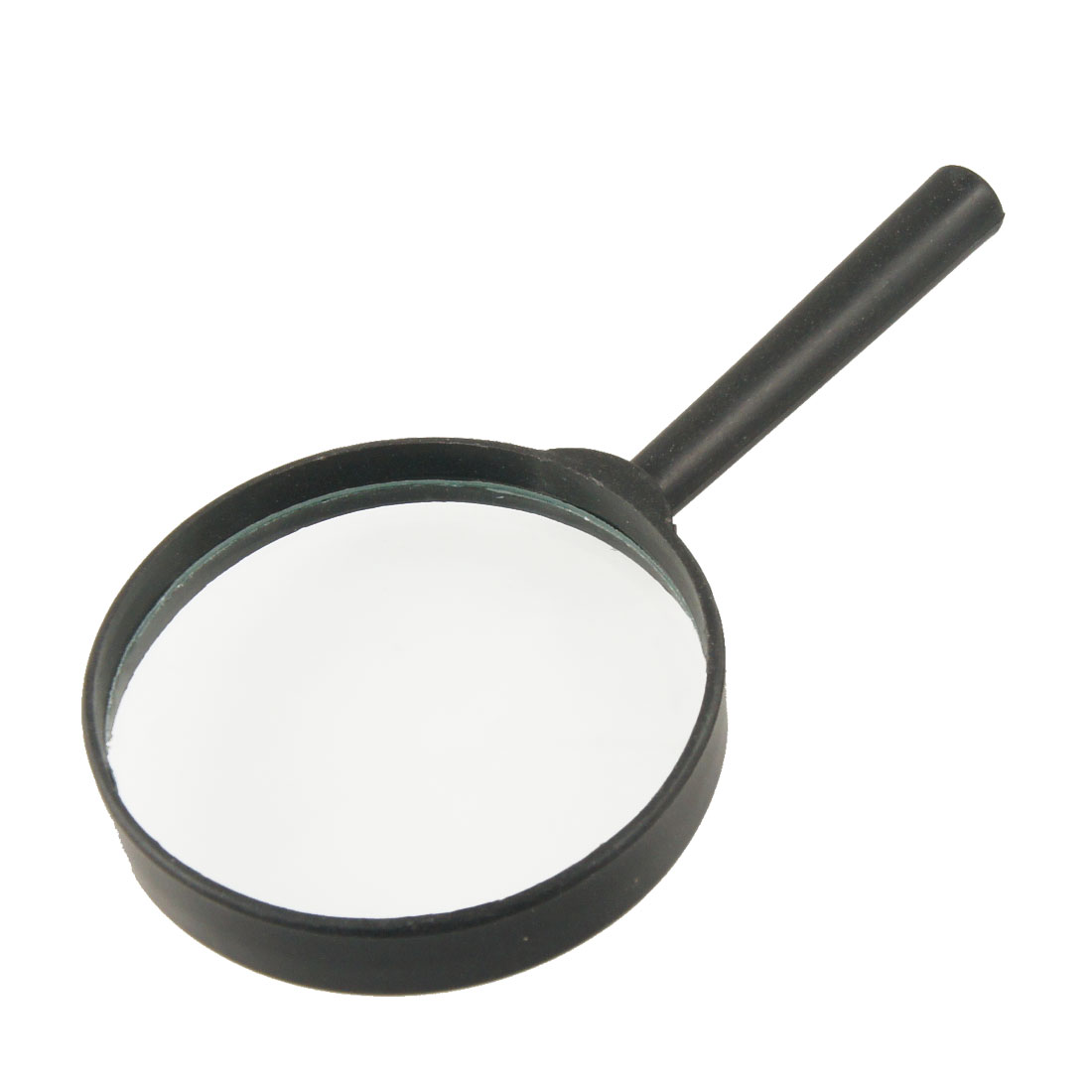 Black Plastic Handle 80mm Diameter Lens 3X Magnifier Magnifying