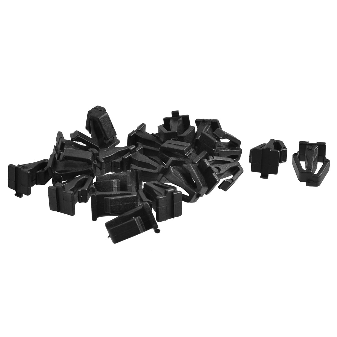 Plastic Rivets Fastener Car Fender Bumper Push in Clips Black 20 Pcs
