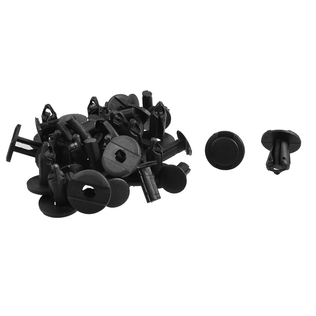20 Pcs 8mm Hole Plastic Push Screw Rivet Fairing Panel Fixings Clips