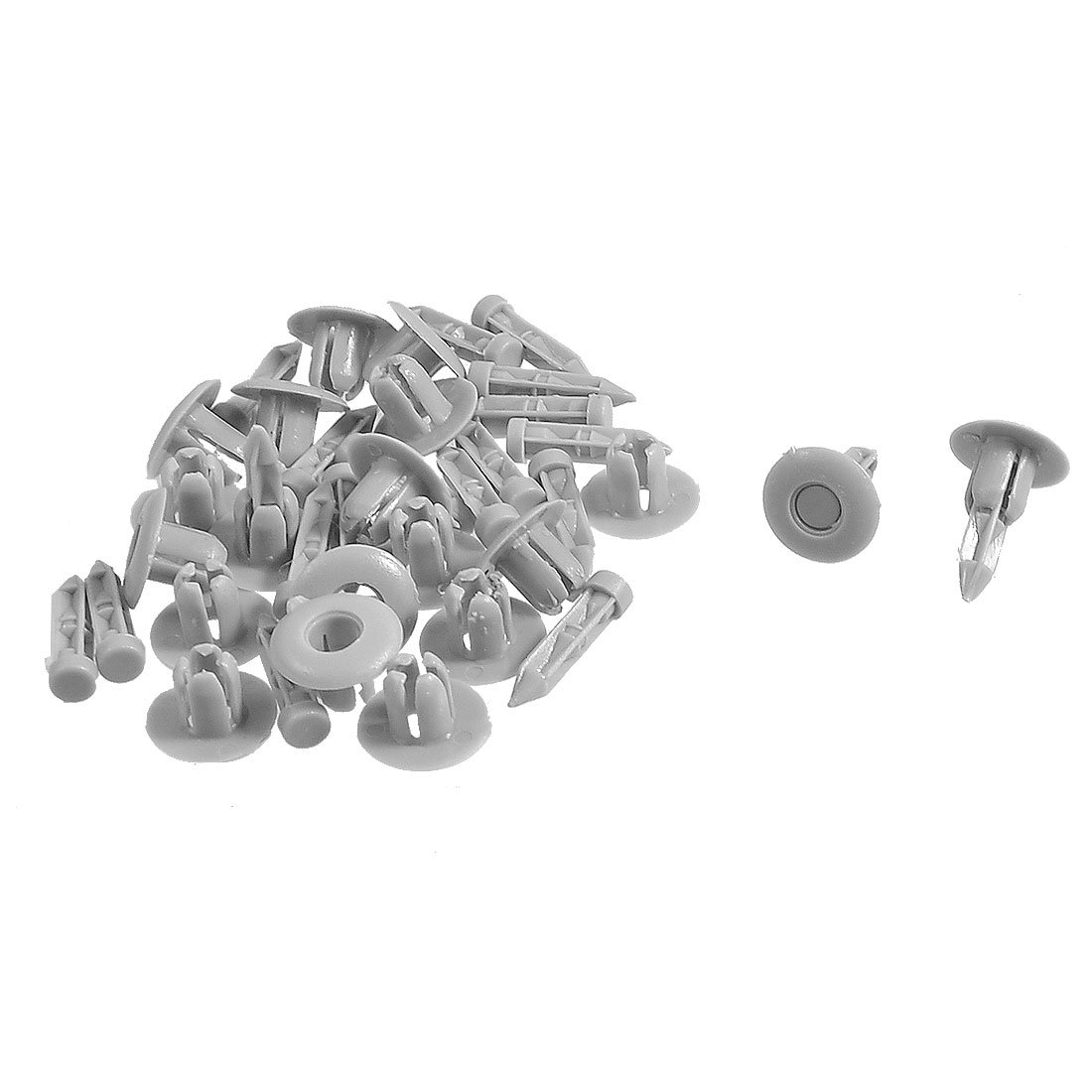7mm Hole Plastic Rivet Auto Car Door Trim Panel Retainer Clip Gray 20 Pcs