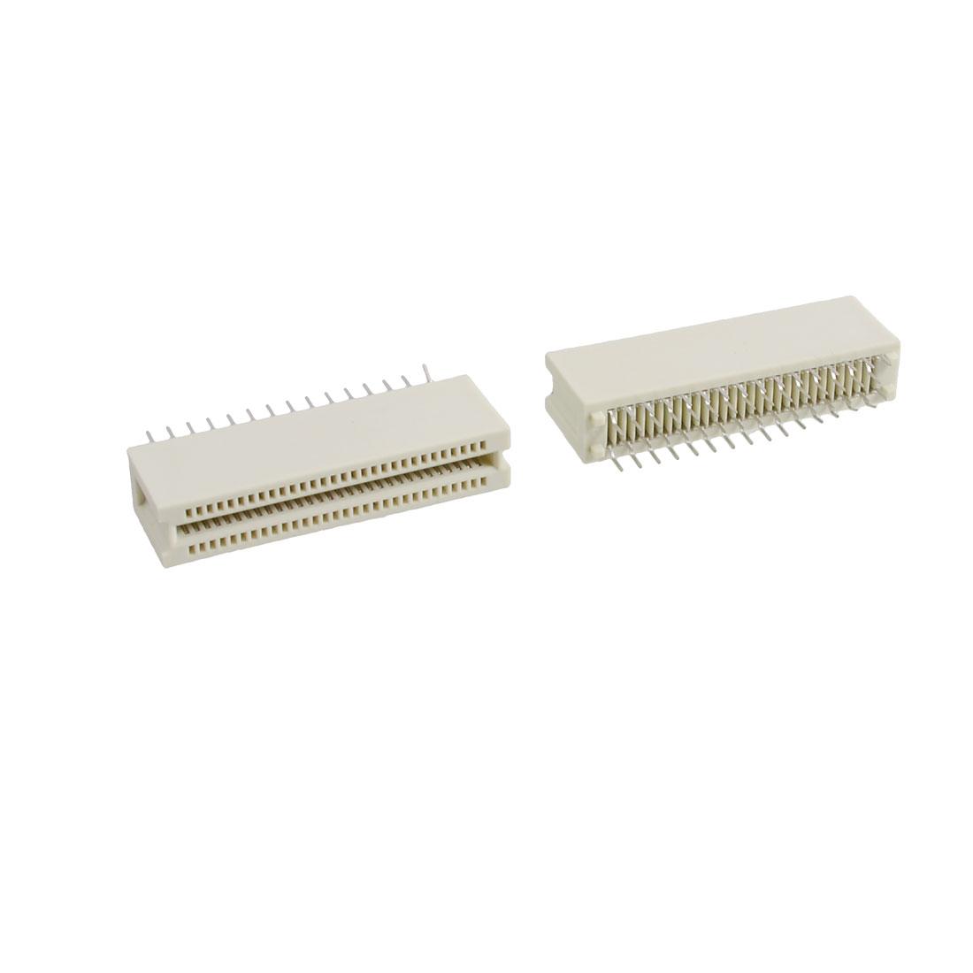 5 Pcs 1.27mm Pitch 50 Pin PCI Card Edge Slot Connector Socket