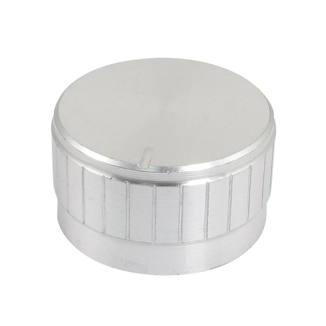 PU Interior 30mm x 17mm Silver Tone Aluminum Knob for Amplifier