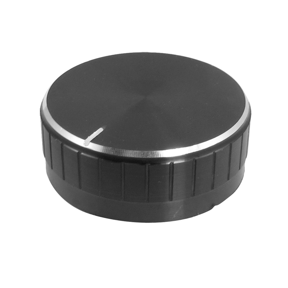 Replacement 48mm x 18mm PU Interior Black Aluminum Knob for Amplifier