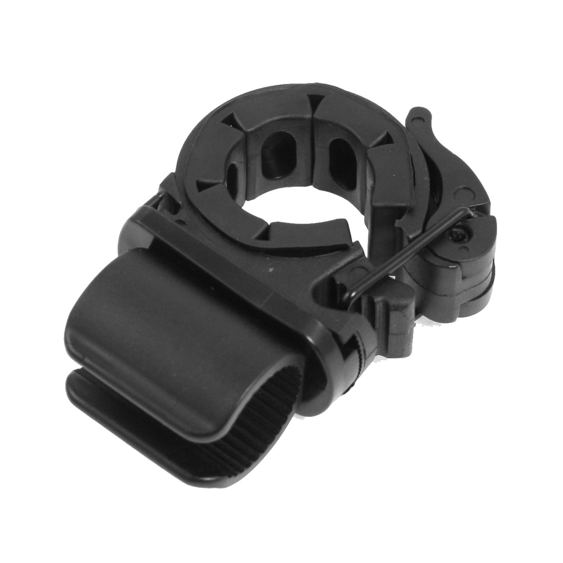 Black Plastic Rubber Bicycle Bike Flashlight Holder Clip